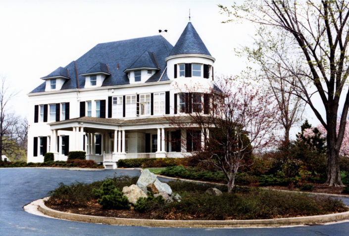 HANDSOME HOUSE: Photo of Number One Observatory Circle, the official residence of the Vice President of the United States of America. Credit: George Bush Presidential Library and Museum. Photographer: Cynthia Johnson. Text Credit: Charles Denyer.