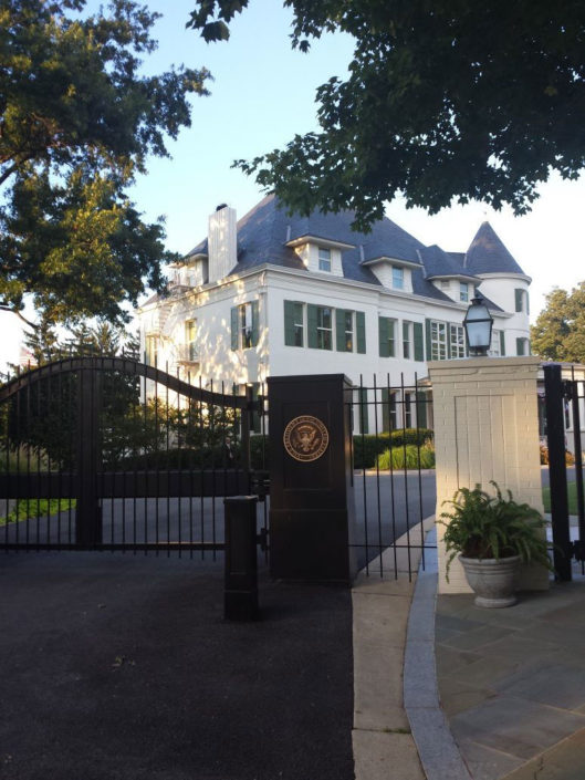 PROTECTION: One of the many gates protecting Number One Observatory Circle, the official residence of the Vice President of the United States. (Credit: facebook, Number One Observatory Circle Facebook Page).