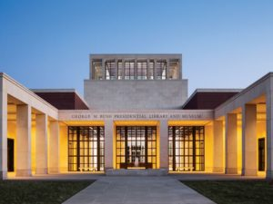 George W. Bush Presidential Library, Dallas, Texas. Photo Credit: George W. Bush Library.